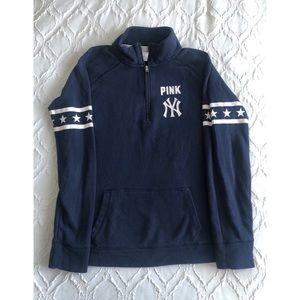 PINK Victoria's Secret - NY Yankees 1/2 Zip Top